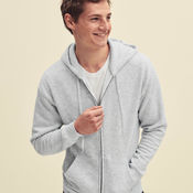Premium Hooded Sweat Jacket by Fruit of the Loom