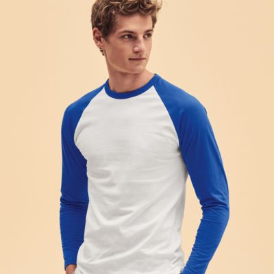 Long Sleeve Baseball T-Shirt by Fruit of the Loom Thumbnail