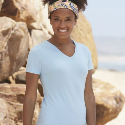 Ladies V-Neck T-Shirt by Fruit of the Loom Thumbnail