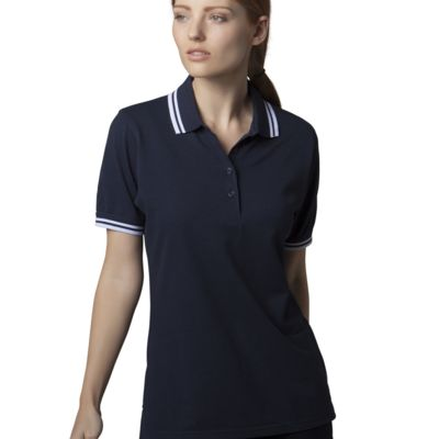 Ladies Tipped Polo Shirt by Kustom Kit Thumbnail
