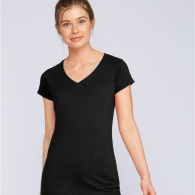 Ladies Soft Style V-Neck T-Shirt by Gildan  Thumbnail