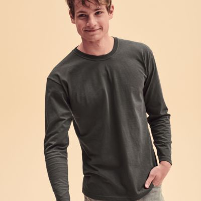 Long Sleeve T-Shirt by Fruit of the Loom Thumbnail