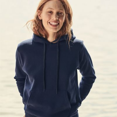 Ladies Hooded Sweatshirt by Fruit Of The Loom Thumbnail
