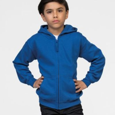 Children's Zipped Hooded Sweatshirt by AWD Thumbnail