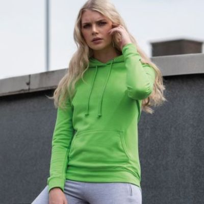 Ladies Hooded Sweatshirt by AWD Thumbnail